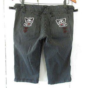 Tripp NYC Skelanimals Shorts Capri Pants Stripe
